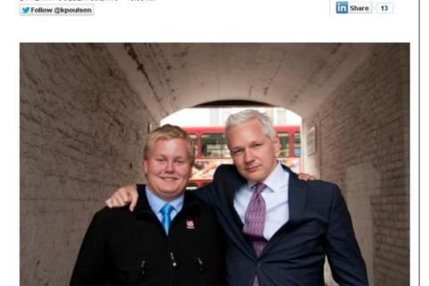 "Siggi ""The Hacker"" pictured with Julian Assange whom he later betrayed."