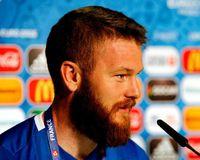 Aron Einar Gunnarsson at the Euro 2016
