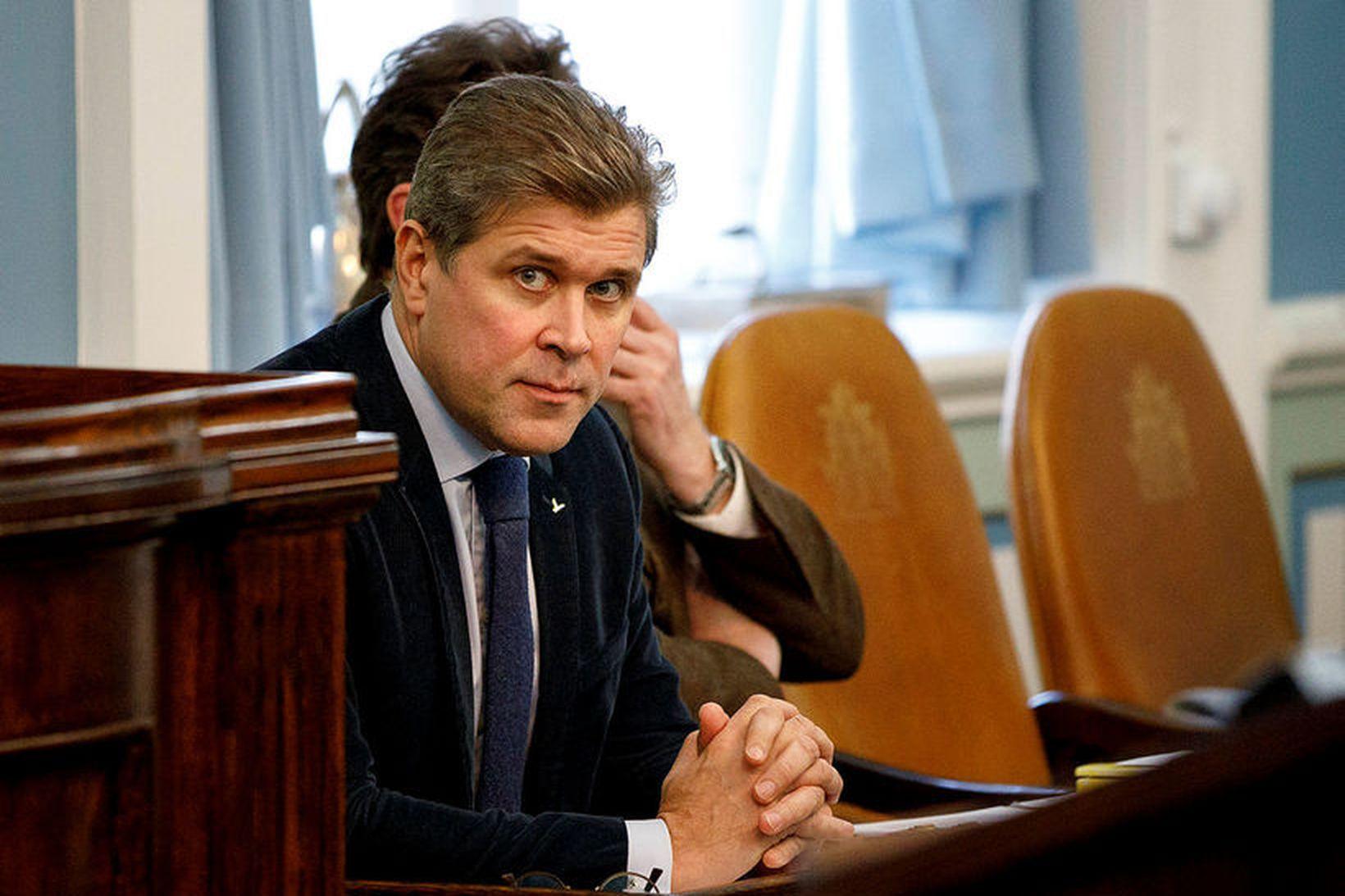 Bjarni Benediktsson, formaður Sjálfstæðisflokksins. Flokkurinn hefur aldrei mælst með lægra …