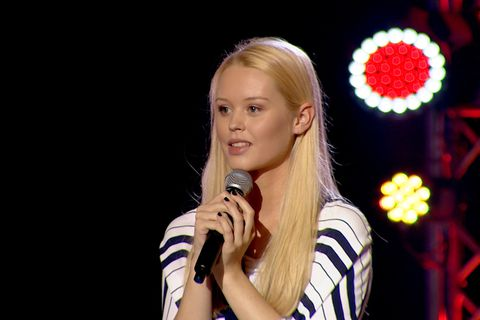 Nineteen- year- old wows judges with a rendition of Seven Nation Army