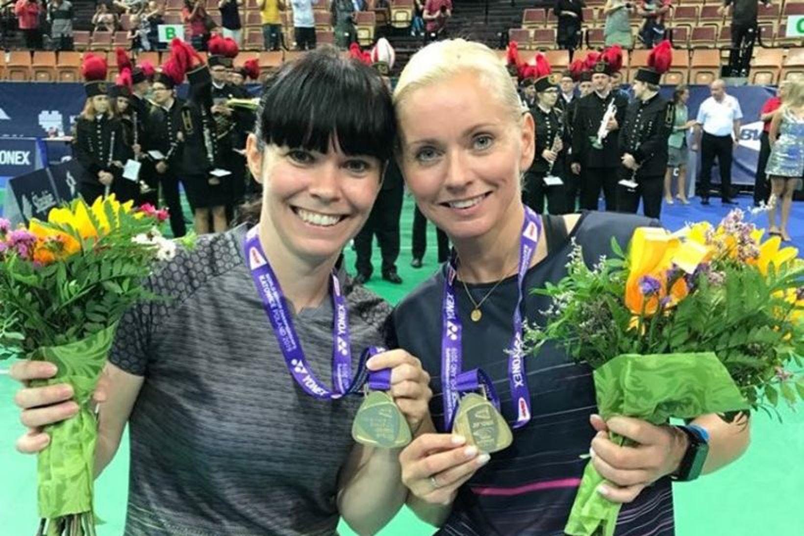 Erla Björg Hafsteinsdóttir og Drífa Harðardóttir eru heimsmeistarar í flokki …
