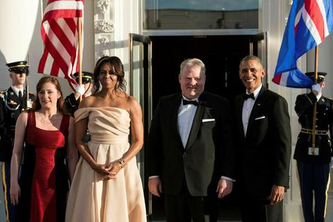 The President and First Lady of the United States and the Prime Ministerial couple of Iceland.