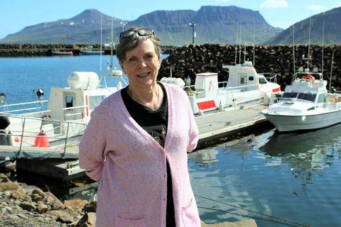 Eva Sigurbjörnsdóttir segir muna um bátana sem leggja upp afla sinn á strandveiðunum í Norðurfirði.