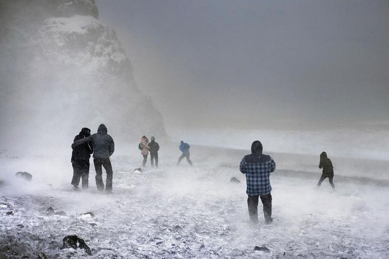Reynisfjara Beach is a popular place to visit, though it can get very cold this ...