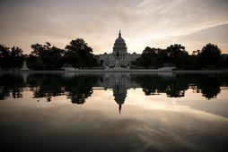 Capitol Hill - þinghúsið í Washington