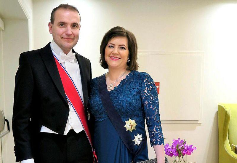 ÍPresident of Iceland, Guðni Th.Jóhannesson and his wife, Canadian born Eliza Reid.
