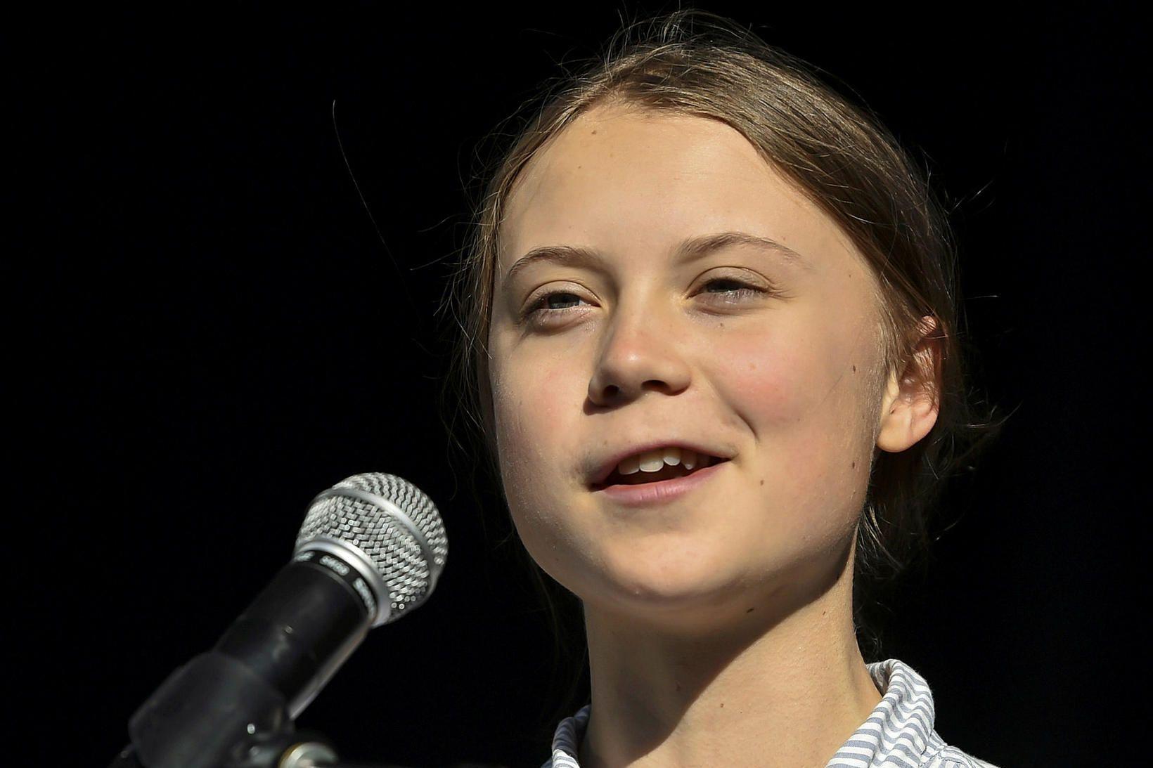 Sænski aðgerðarsinninn Greta Thunberg.