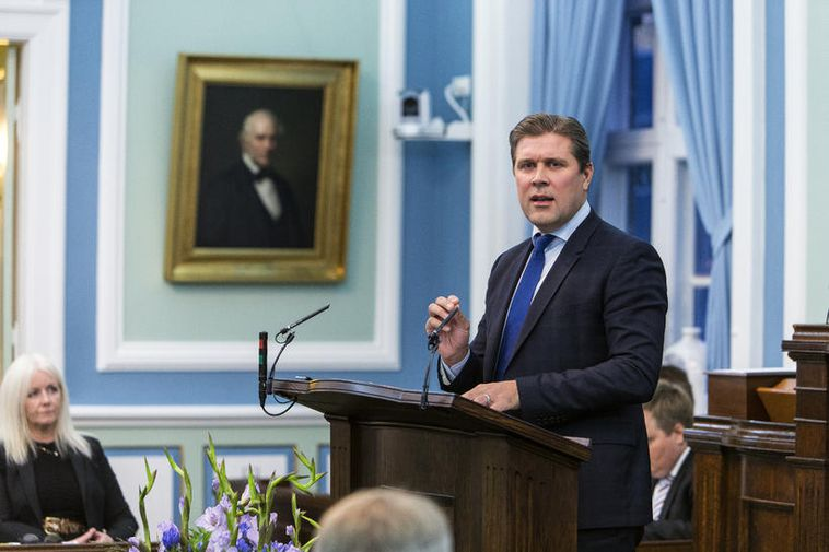 Bjarni Benediktsson, Minister for Finance and Economic Affairs.