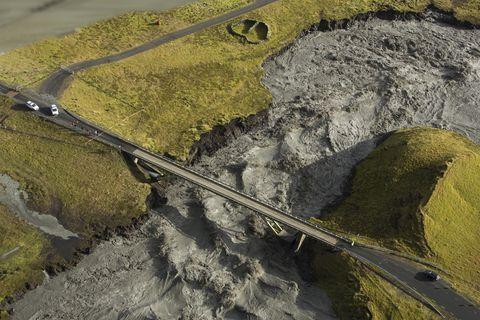 Glacier river floods are a potential threat if Katla erupts.