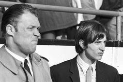 Rinus Michels og lærisveinninn Johan Cruyff.