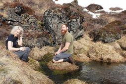 Kristín Sif Björgvinsdóttir og Aaron Kaufman á Snæfellsnesi um síðustu helgi.