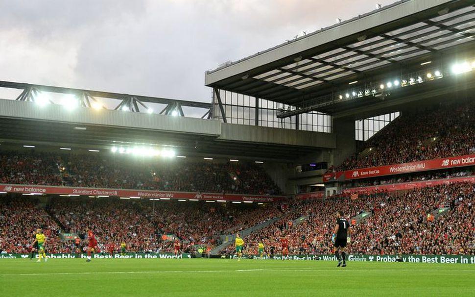 Frá leik Liverpool og Norwich á Anfield.