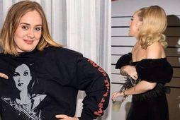 Adele hefur grennst töluvert upp á síðkastið.