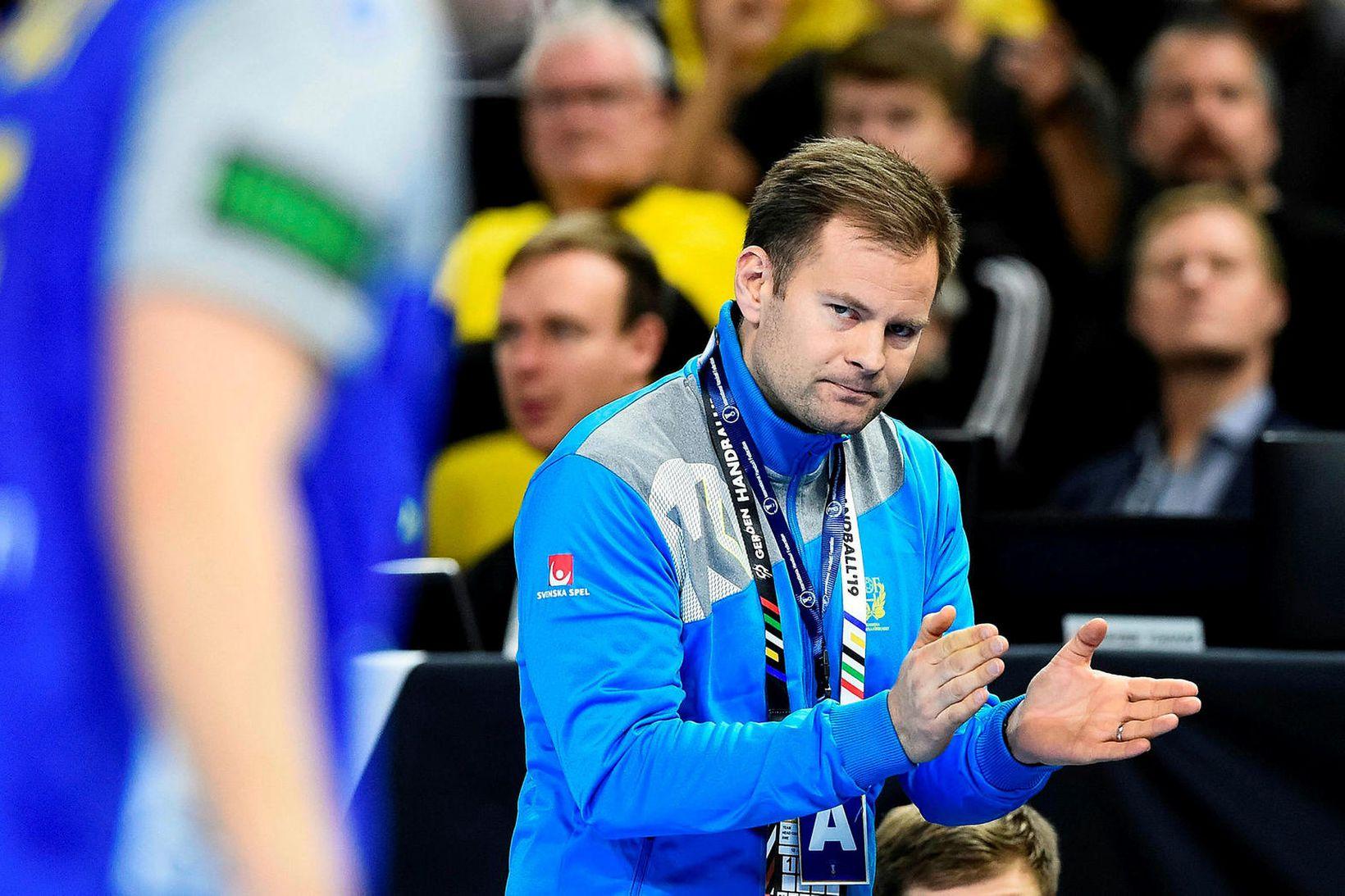 Kristján Andrésson stjórnaði sænska landsliðinu á heimsmeistaramótinu árið 2019.