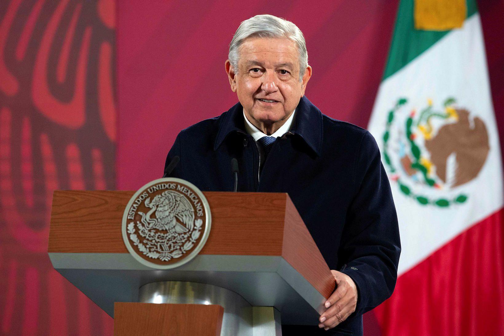 Andres Manuel López Obrador, forseti Mexíkó.