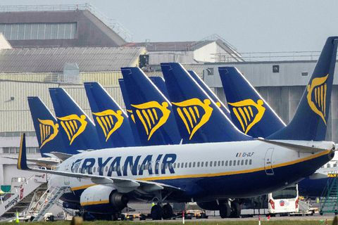 Flugvélar Ryanair.