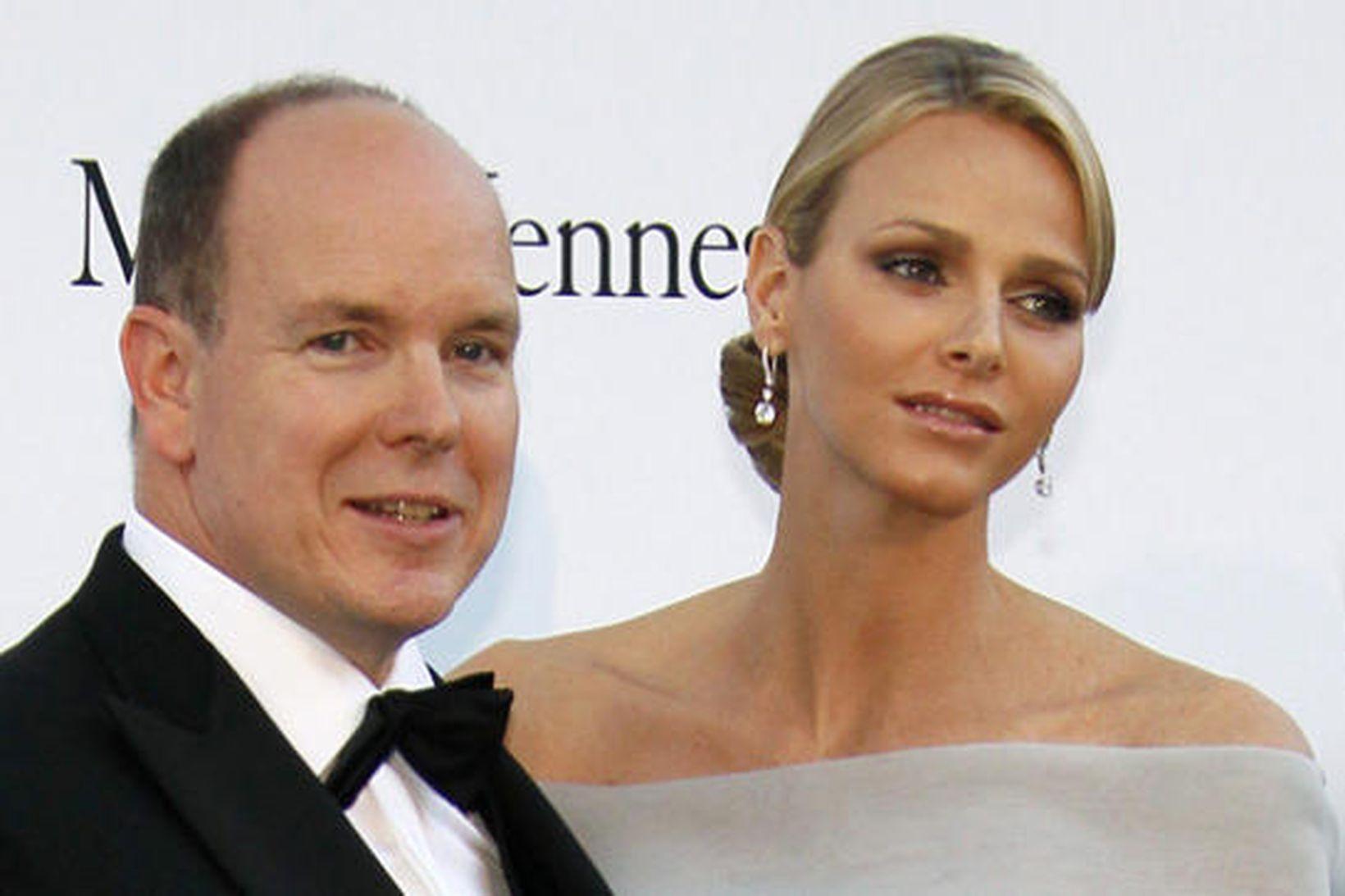 Prins Albert og Charlene eiginkona hans.