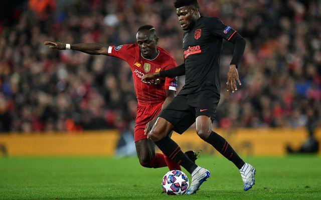 Sadio Mané í leik með Liverpool.