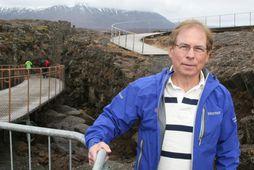 Ólafur Örn Haraldsson forseti Ferðafélags Íslands, hér staddur á Þingvöllum.