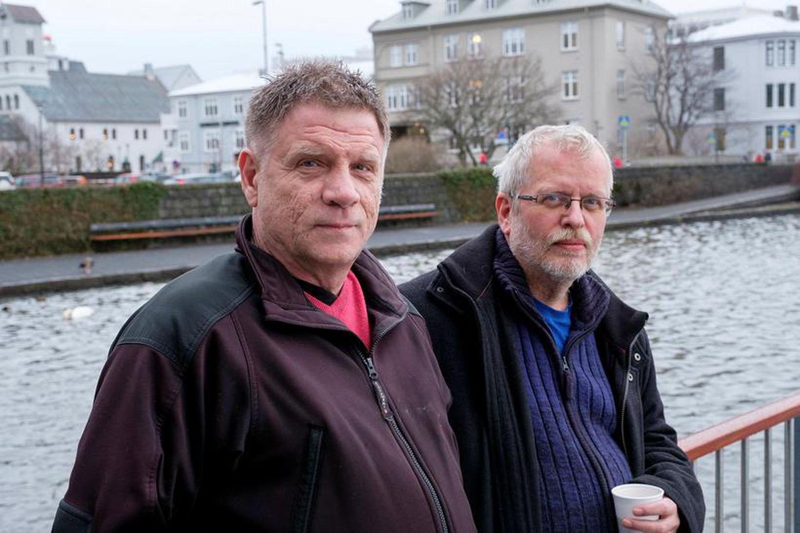 Magnús Helgi Björnsson (t.v.) og Þóroddur Þórarinsson störfuðu báðir á …