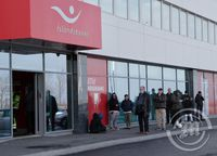 biðröð við Íslandsbanka