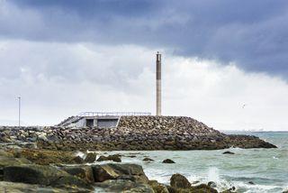 Dælustöð Orkuveitu Reykjavíkur við Faxaskjól.