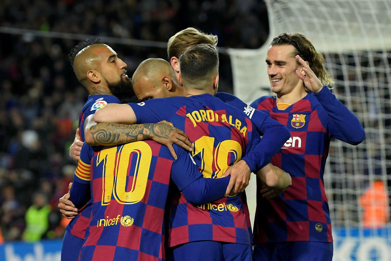 Barcelona er á toppi spænsku 1. deildarinnar en nú er …