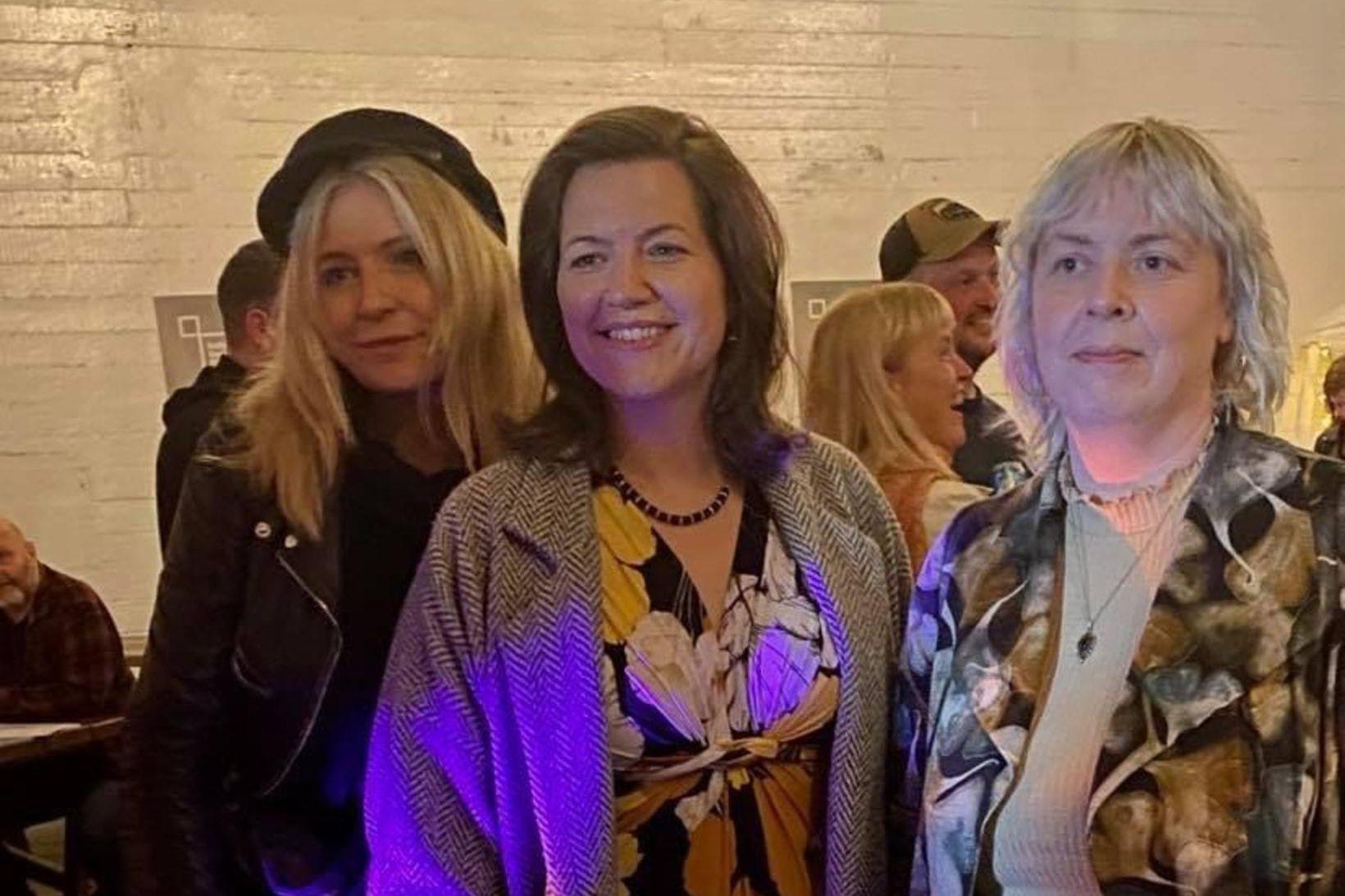 Anna Margrét Björnsson kynningarstjóri IceDocs, Eliza Reid forsetafrú og Ingibjörg …