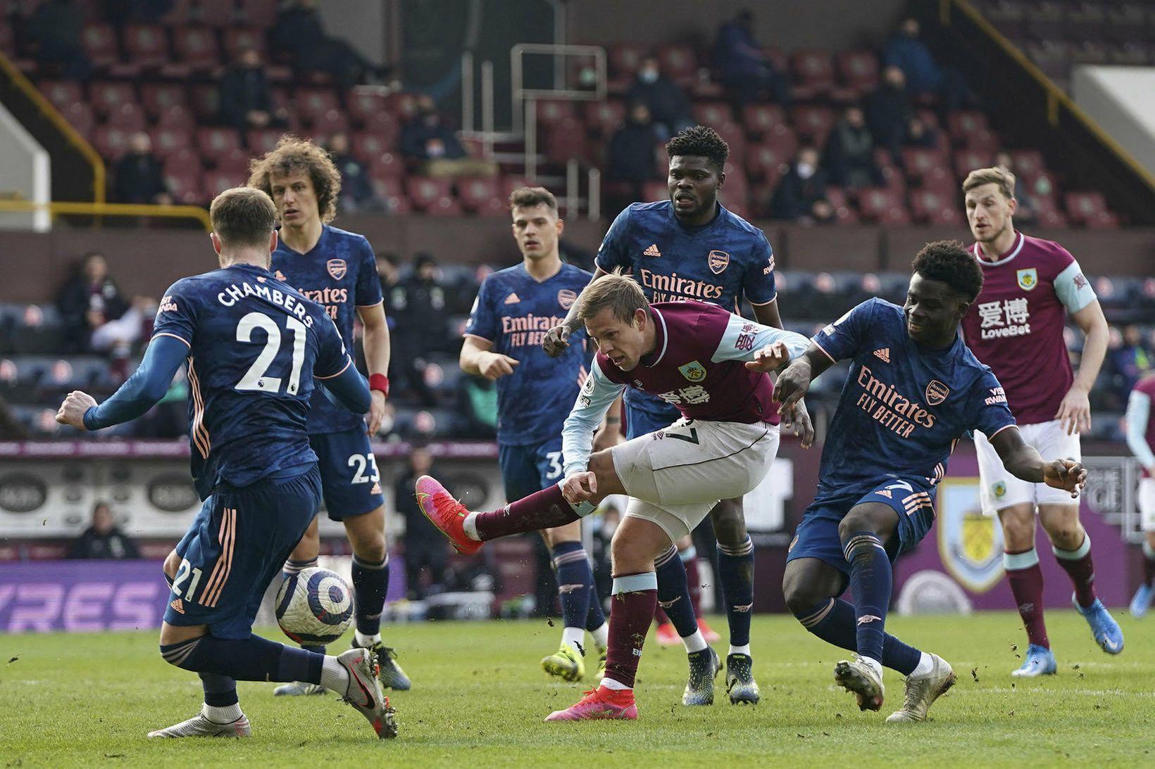 Burnley og Arsenal skildu jöfn í dag.
