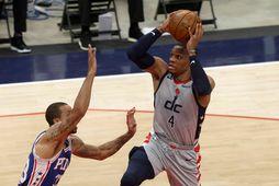 Russell Westbrook í leik með Washington Wizards á síðasta tímabili.