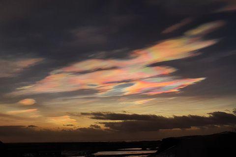 The sky above Vík í Mýrdal Friday morning.