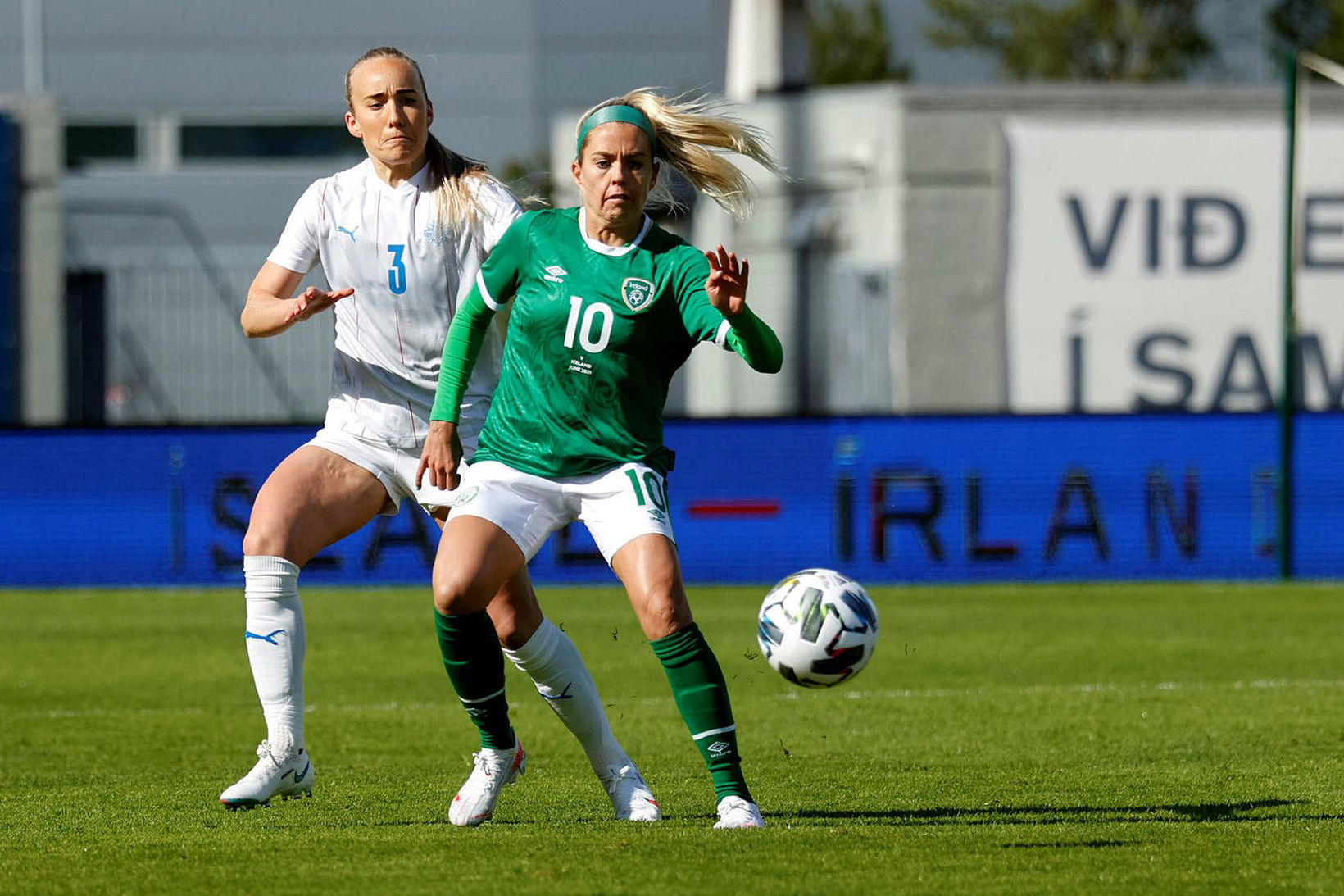 Elísa Viðarsdóttir í leiknum gegn Írlandi á föstudaginn.