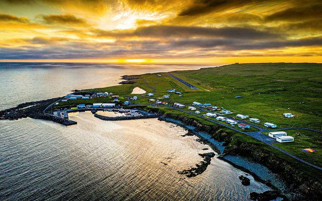 Grímsey. Um fjórðungur íbúa hefur fengið bólusetningu á Akureyri.