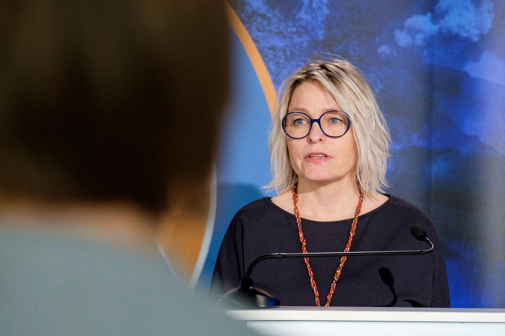 Kristín Jónsdóttir, fagstjóri náttúruvár hjá Veðurstofunni