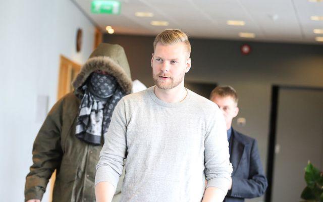 Sindri Þór Stefánsson við þingfestingu málsins í héraðsdómi. Hann hlaut 3,5 ára dóm í Landsrétti …