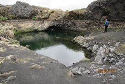 Mynd sem Hafrannsóknastofnun birti með frétt af ástandinu í Grenlæk. Þessi mynd var tekin 3. …