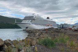 Viking Jupiter kom til Akureyrar í morgun.