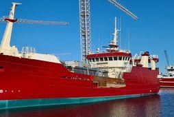 Oddeyrin EA, skip Samherja, hefur tekið töluverðum breytingum og verður fyrsta skip sinnar tegundar hér …