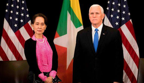 Pence ávítti Suu Kyi