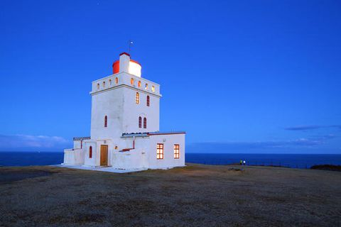 The Dyrhólaey lighthouse.
