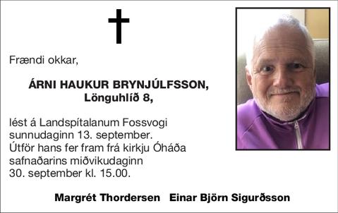 Árni Haukur Brynjúlfsson,