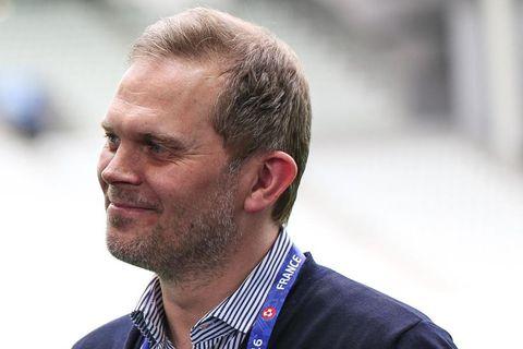 Guðmundur Benediktsson er væntanlega í skýjunum.