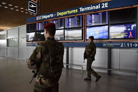 Heightened security measures have already been put in place in other European airports, such as here in Paris.