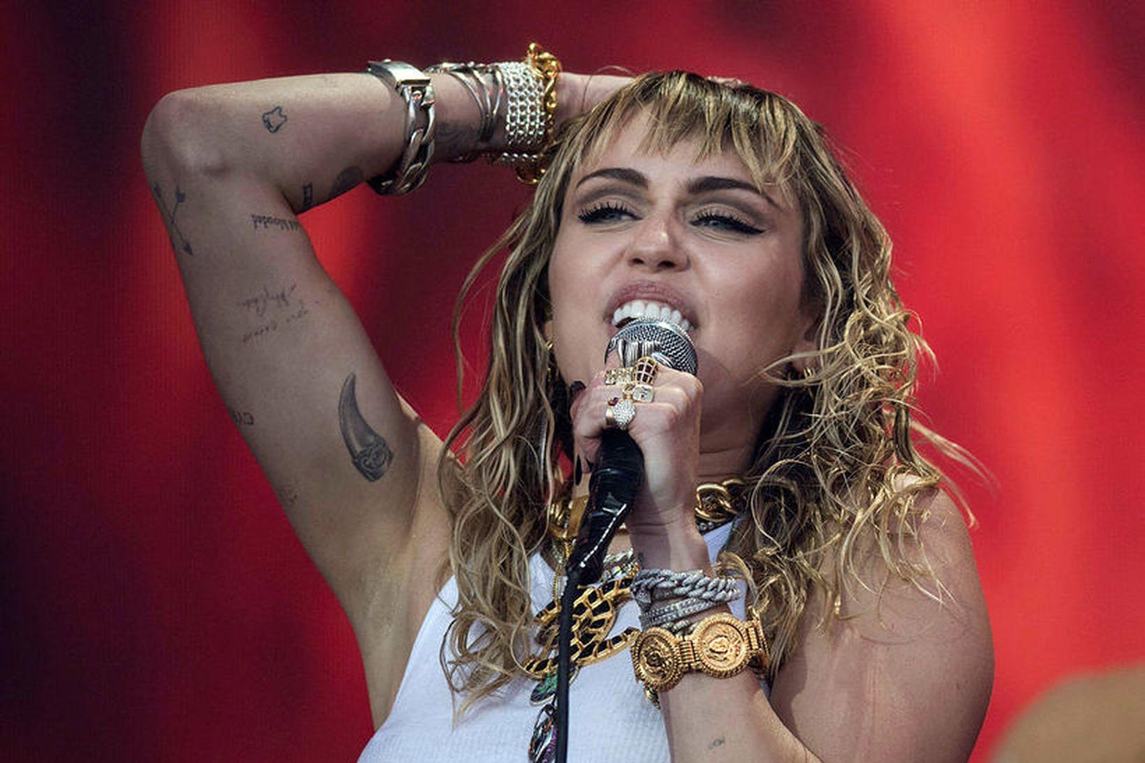 Miley Cyrus bjargar sér í heimsfaraldrinum.