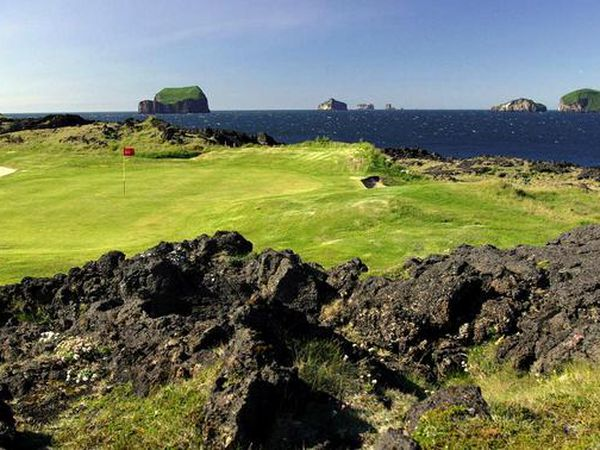 From the Westman Islands Golf Course.
