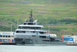 Ragnar við bryggju á Akureyri í dag.