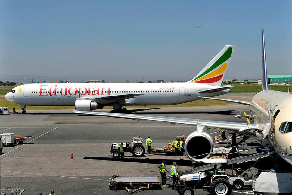 Boeing 737-farþegaþota Ethiopian Airlines. Mynd úr safni.