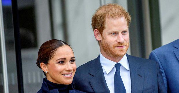 Harry og Meghan í New York í gær.