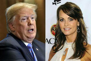 Donald Trump og fyrirsætan Karen McDougal.