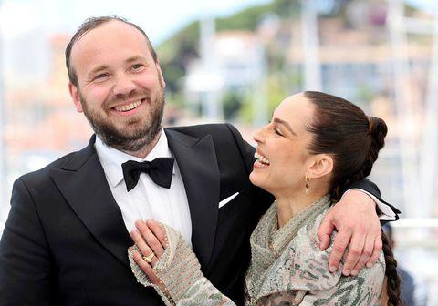 Valdimar Jóhannsson, leikstjóri Dýrsins og Noomi Rapace, ein af aðalleikurum myndarinnar, á Cannes kvikmyndahátíðinni.